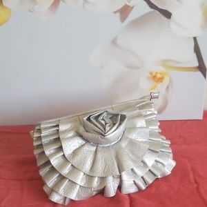 Giannini Silver Rose Clutch,  Lined